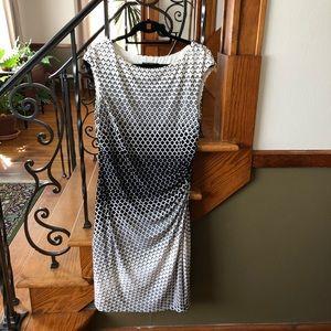 Lauren Ralph Lauren Dresses - Lauren Ralph Lauren 12 Geometric Rouched Dress